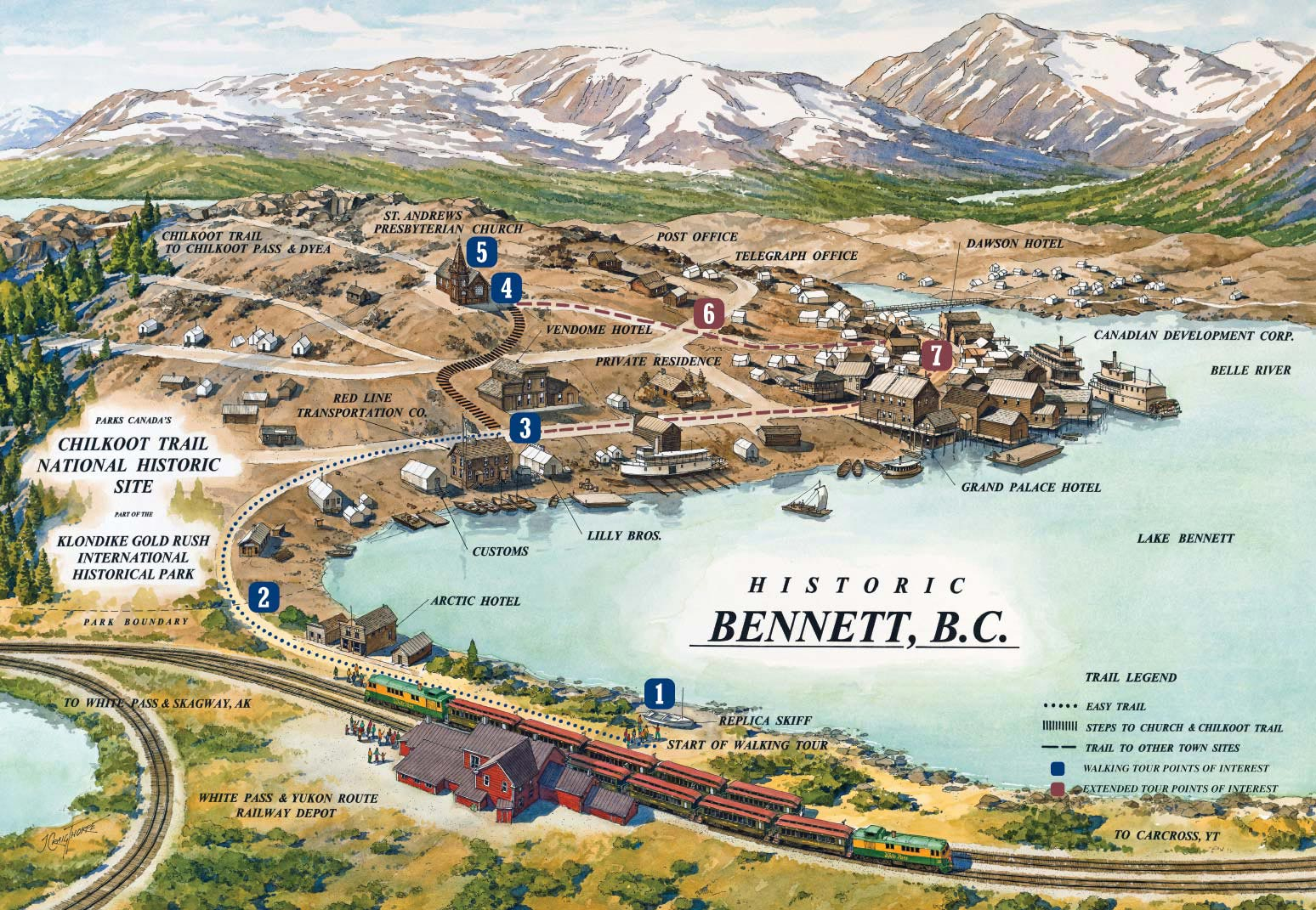bennettwalkingtourmap