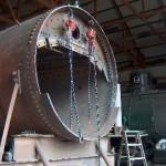 Boiler front.