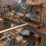Machining valve yoke.
