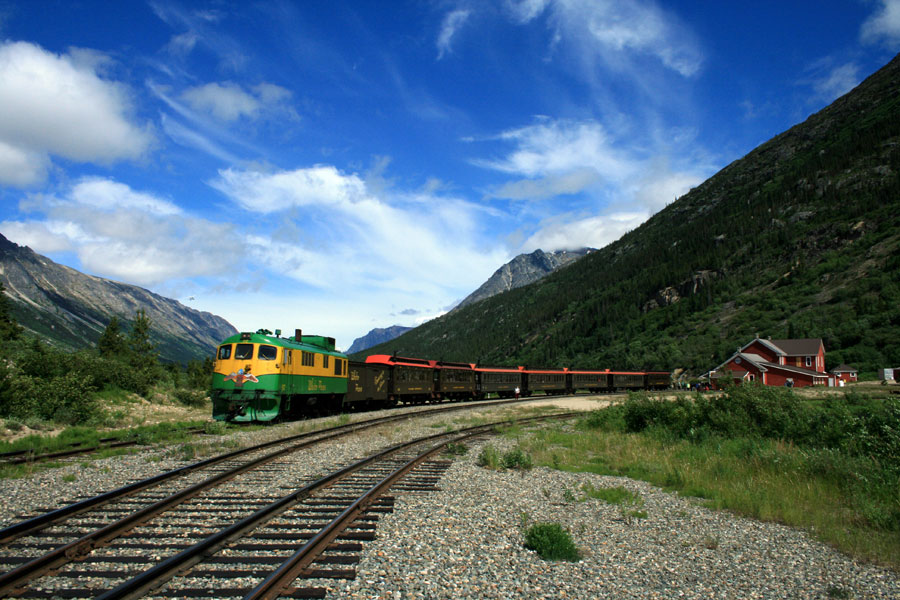 Carcoss Train at Bennett Station and Lake Bennett by Thomas Lasher