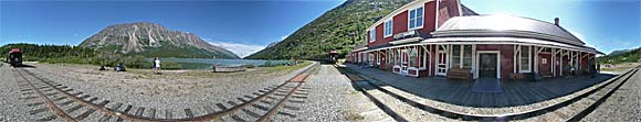 This 360° panoramic was taken across from the station.