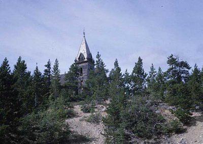 Old wood church at Bennett. Location:Bennett. Milepost:. Date:1979-10-00