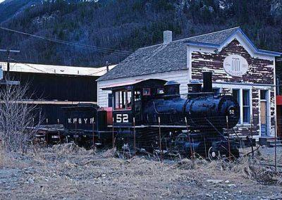 Old Steam Engine 52 at Skagway. Location:Skagway. Milepost:. Date:27845