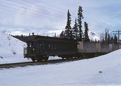 Comine 214 at the end near Carcross. Location:MP 68.2. Milepost:Mile 68.2. Date:1980-03-00
