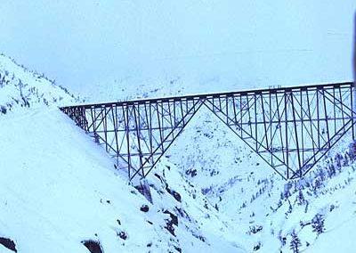 View to old bridge 18A. Location:Bridge 18A. Milepost:Mile 18. Date:1980-03-00