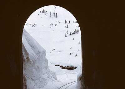 View through tunnel 16 South entrance. Location:Tunnel 18. Milepost:Mile 18. Date:1980-03-00