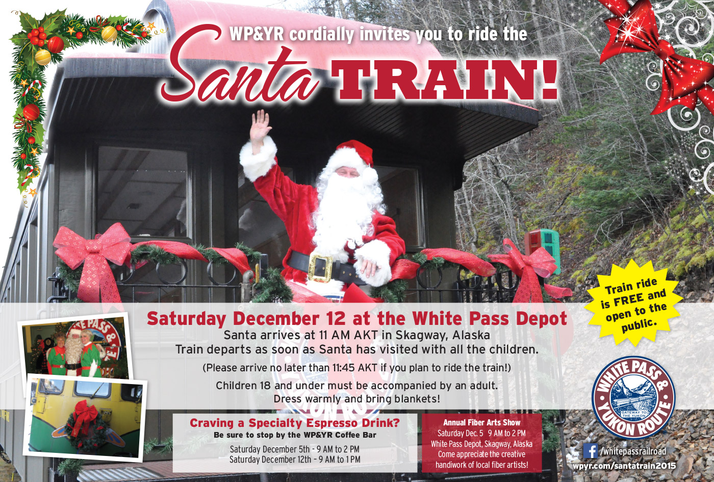 Santa Train Ad - full color