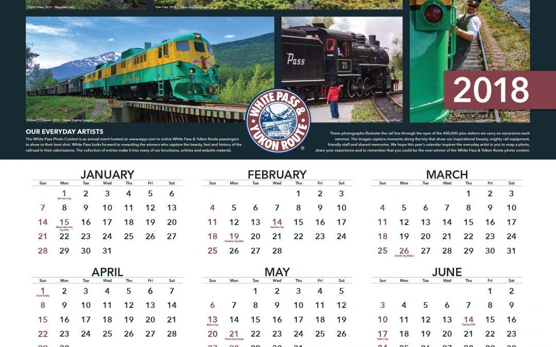2018 Calendar Available Now!