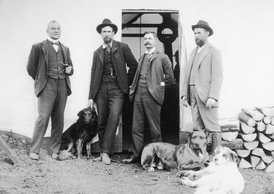 The four men who shaped the vision of the White Pass & Yukon Route. Samuel Graves, John Hislop, E.C. Hawkins and Michael J. Heney (left to right)