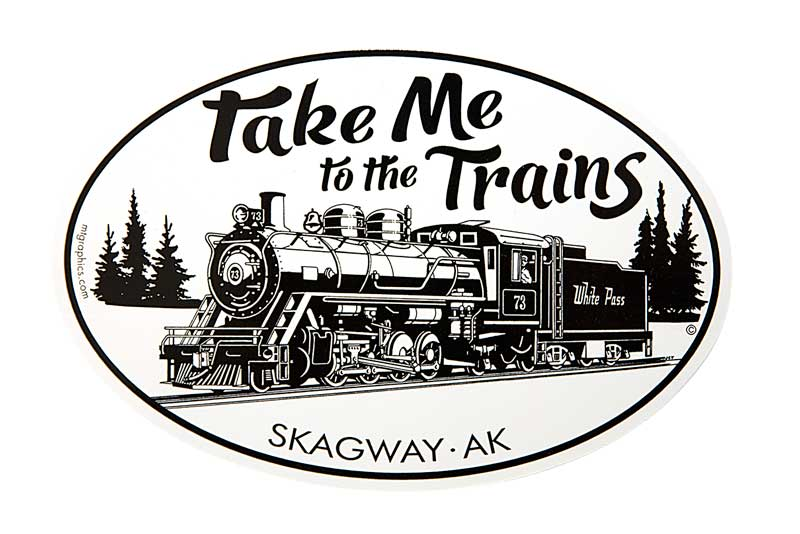 Sticker - Take Me to the Trains