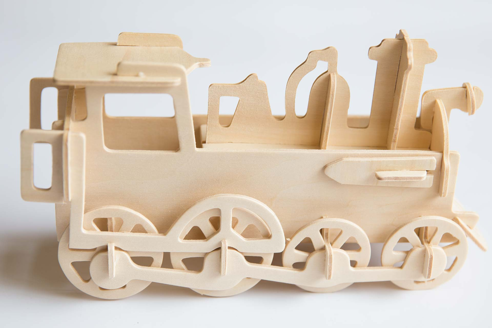 3D Wooden Train Puzzle