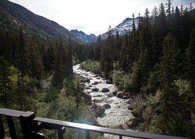 The Railroad Runs Over the River