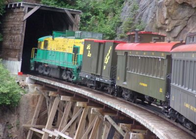 Entering the Tunnel At Tunnel Mountain