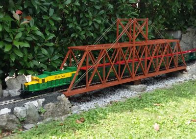 Train on drawbridge