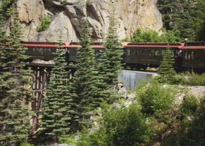 Train exiting tunnel