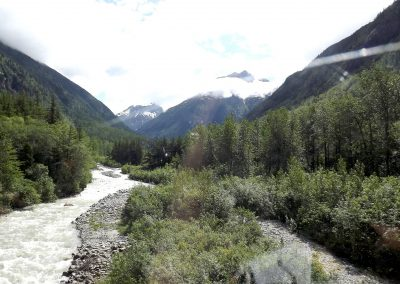 Valley, water, mtns, snow