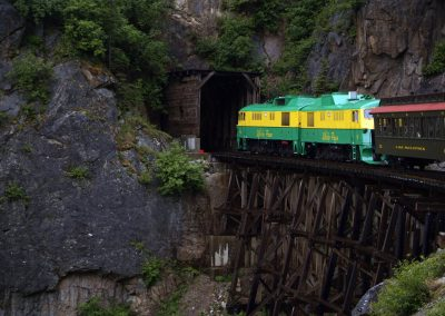 Train is entering the tunnel