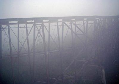 Old fashioned train tracks