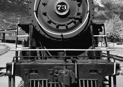 steam engine # 73 front view